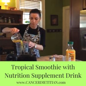 Tropical Smoothie with Nutrition Supplement Drink (Canva)