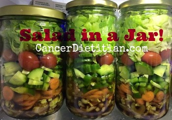 salad in a jar and meal planning